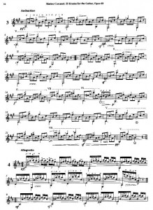 Carcassi Étude No. 3 in A from 25 Études