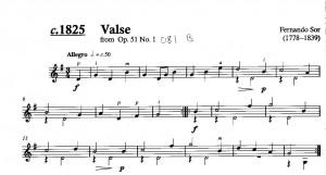 Sor Valse (from Op. 51 No. 1)